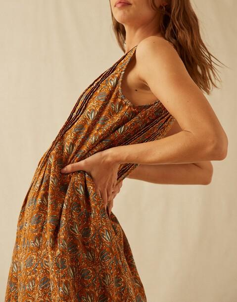 robe midi indienne coton