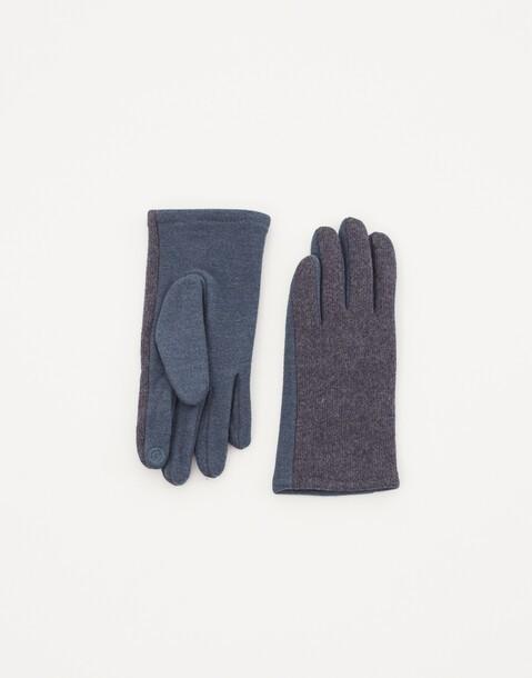 herrenhandschuhe aus wollgemisch mit touchfunktion