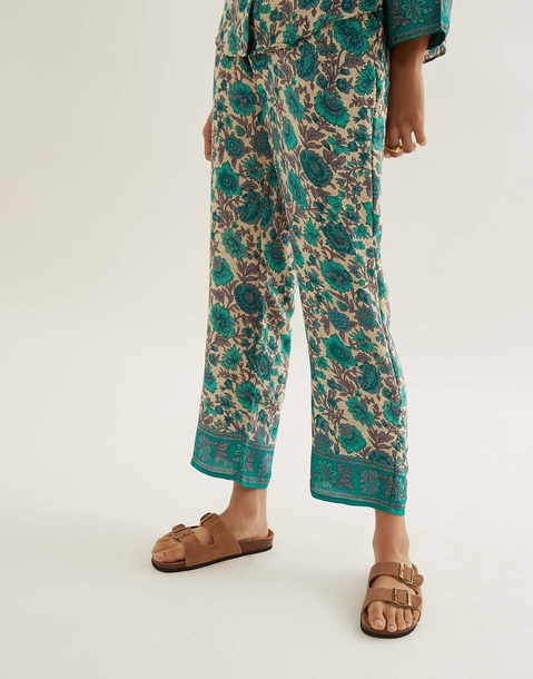 long silk pants with elastic waist