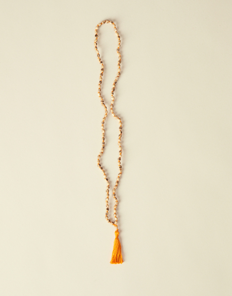 wooden mala necklace