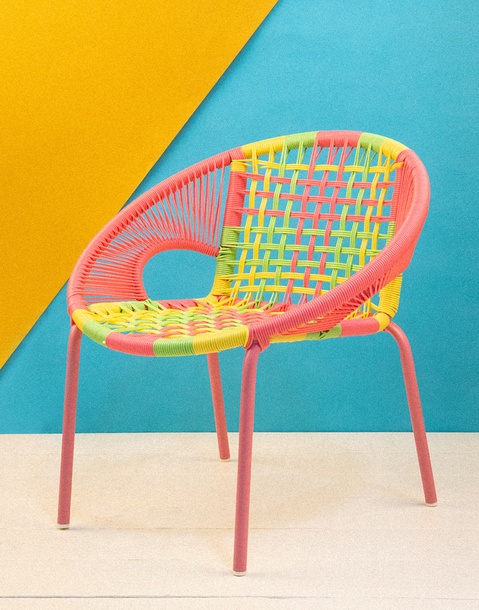 multicolor children's armchair