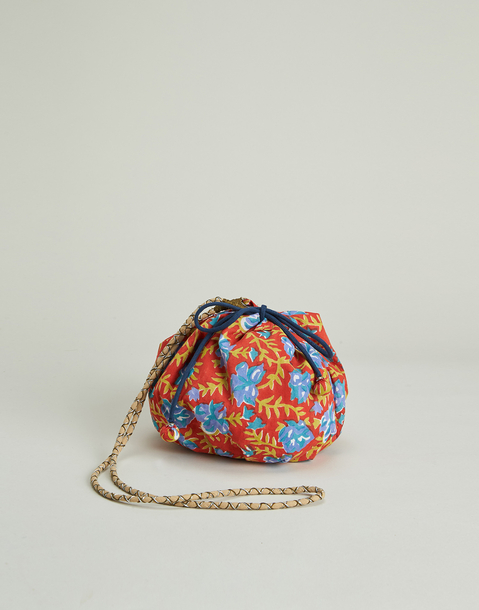 indian print bucket bag