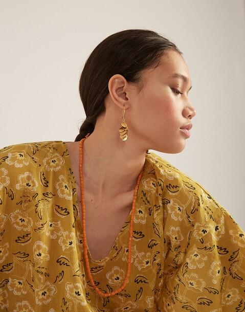 boucles d'oreilles grappe dorées