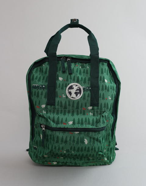forest print backpack