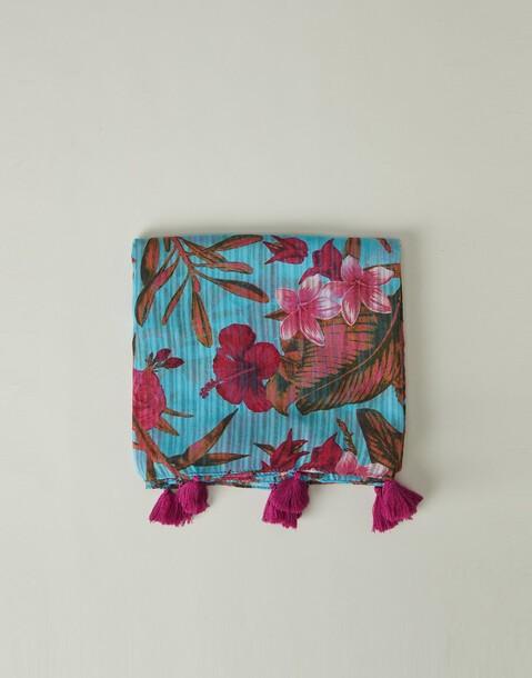 tropical print foulard