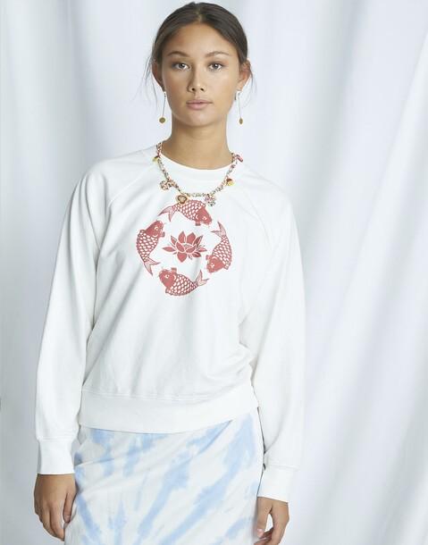 japanese carp organic sweatshirt