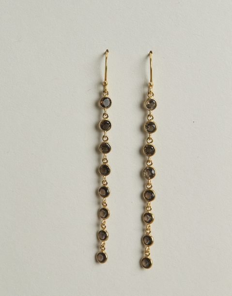 gilded stone earrings