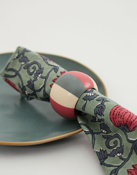 color striped napkin ring