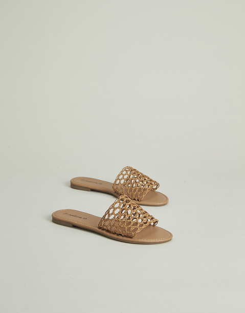 weaved slide sandal