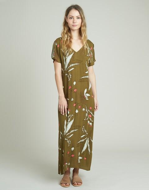 vestido largo goma cintura