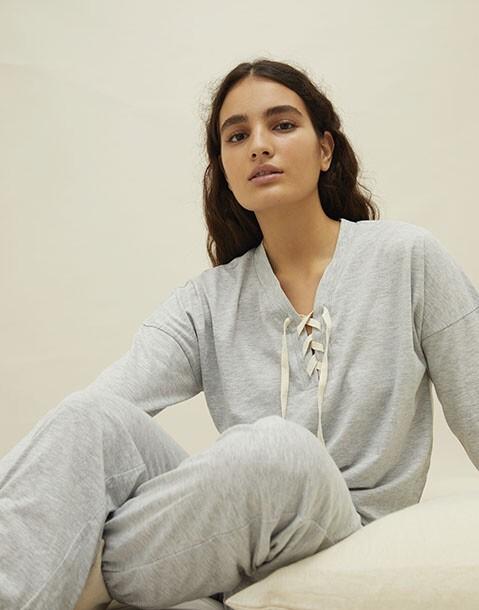 homewear zigzag hoodie