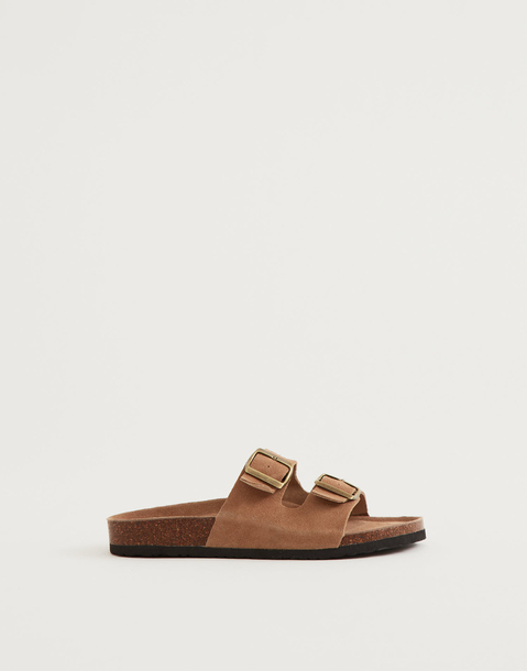 sandali doppio cinturino ergonomici pelle