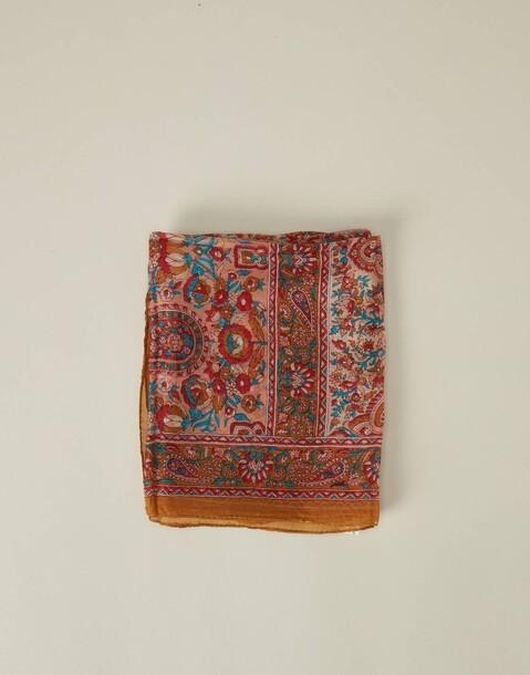 geometric paisley silk scarf