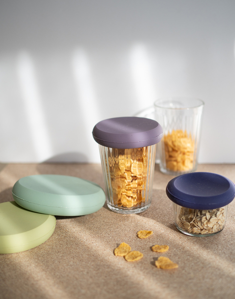 set 4 silicone lids