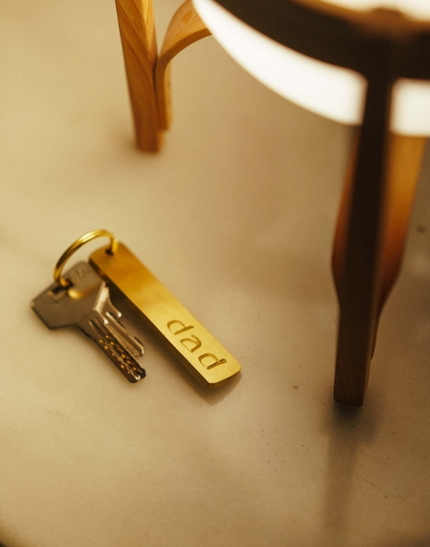 gold key-chain