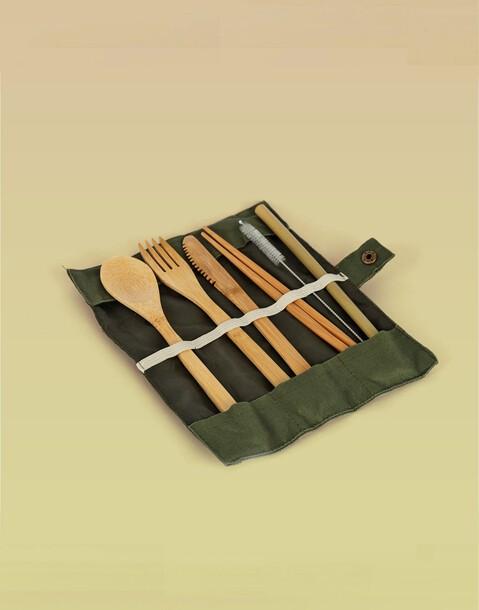 set posate bambù