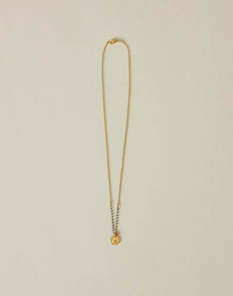 collar cadena japonesa con medalla