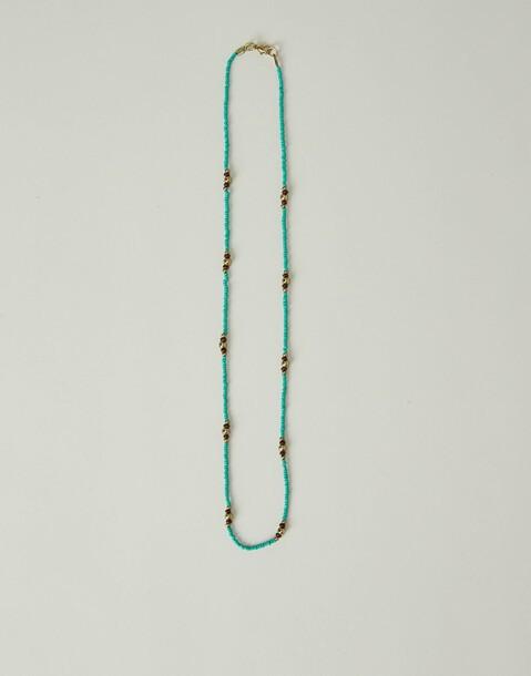 collana con grani turchese
