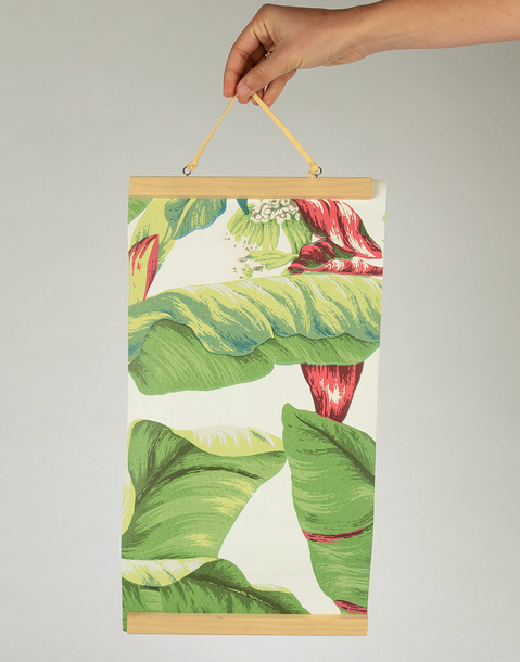 small wooden print dowel hanger