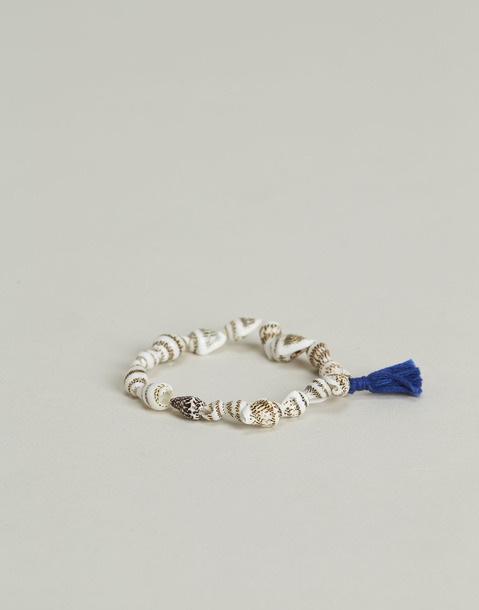 shell anklet bracelet with pompom