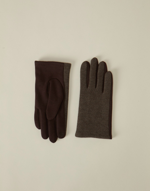 men's wool and jersey tech glove