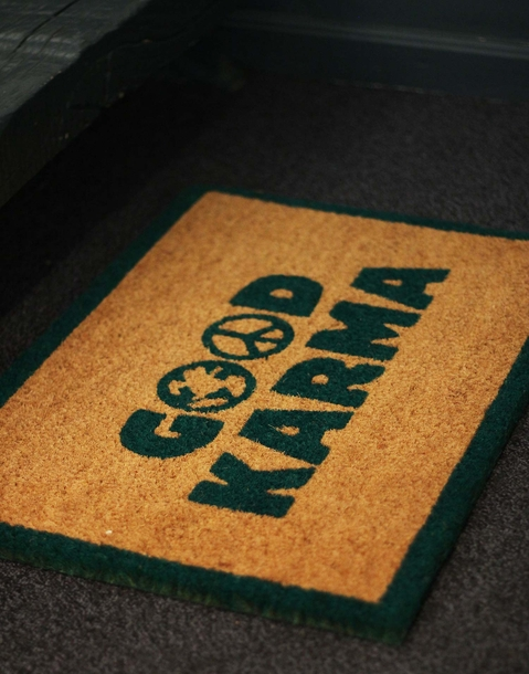 good karma doormat