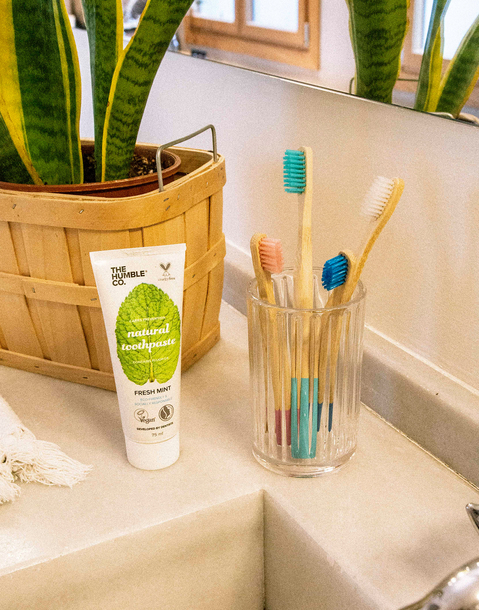 vegan bamboo toothbrush for kids