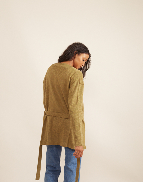 rustic jacket with belt