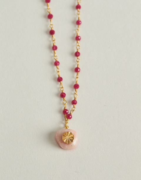 gilded rubies necklace