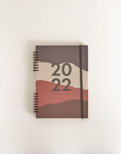 agenda anual semana vista 2022