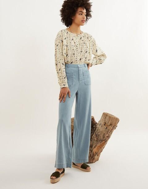 pantalon droit tencel