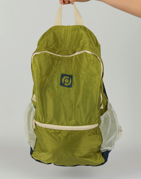 folding squared backpack