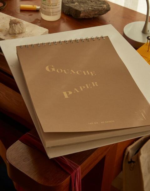 cuaderno para témpera gouache