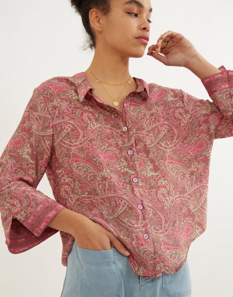 chemise soie