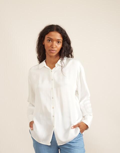 basic shiny viscose shirt