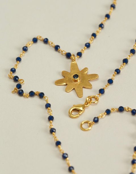 gold plated necklace with star pendant