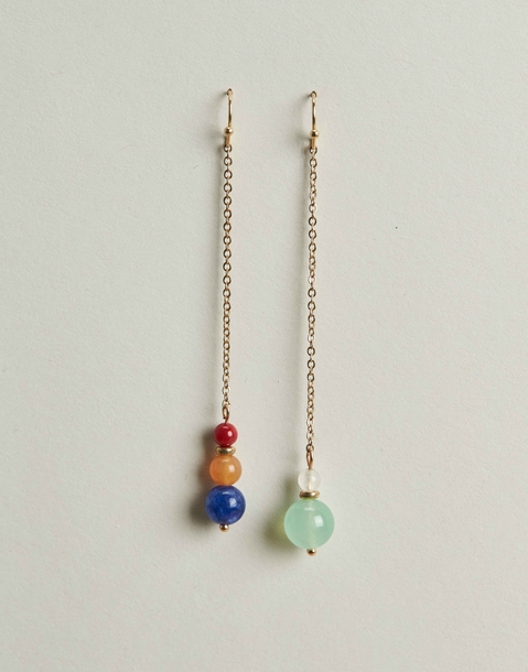 irregular stones earrings