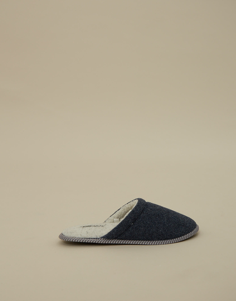 men's felt open slippers