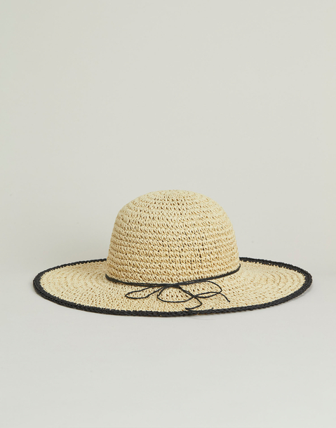 contrasting edges hat