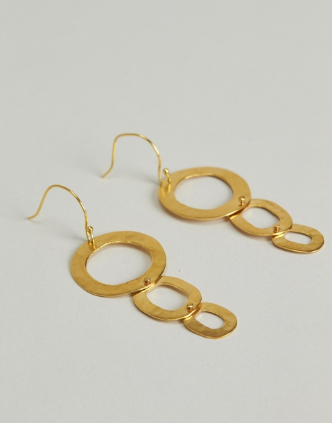 gilded statement earring