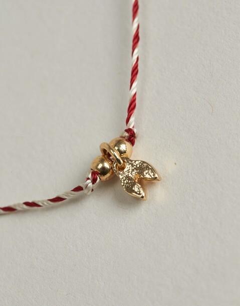 bracelet fil bicolore avec charm
