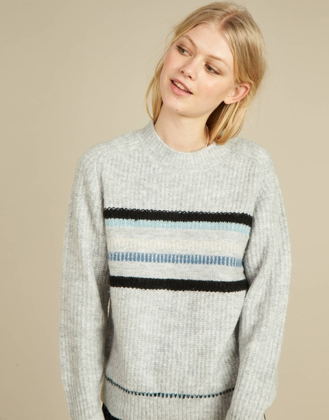 multicolor jacquard sweater