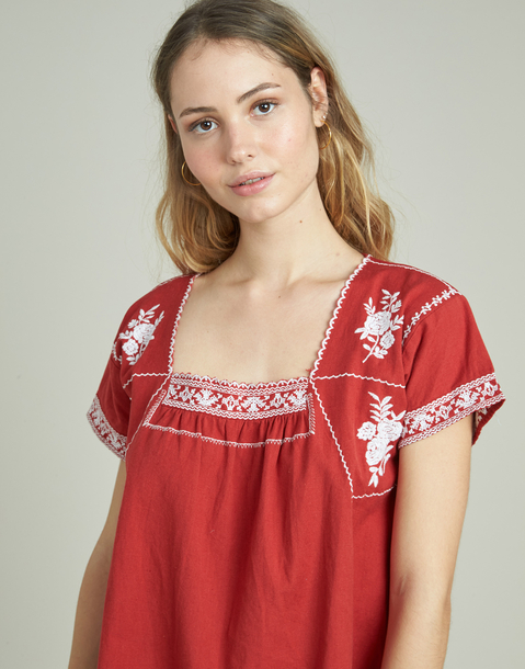 mexican embroidered shirt