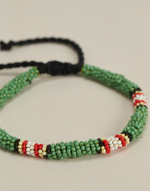 beaded chunky anklet