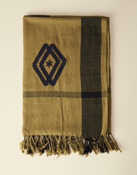 jacquard embroidery rhomb foulard