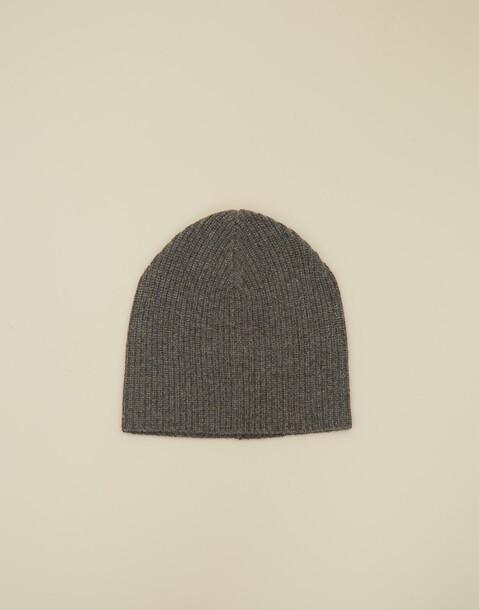 cashmere mütze mit rippenstrick