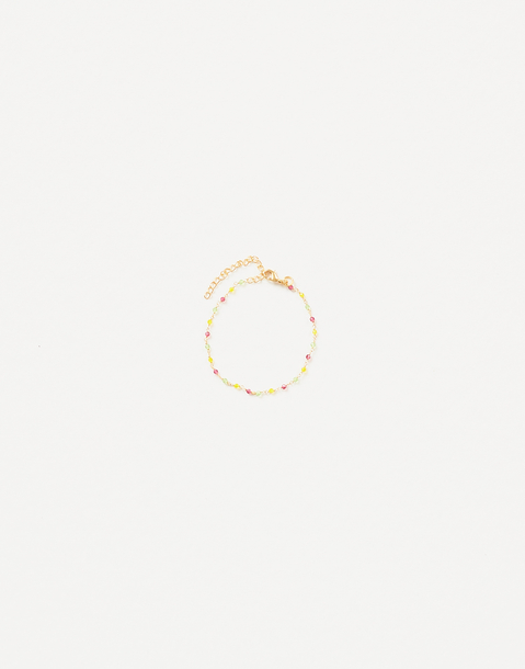 gold plated bracelet with stones