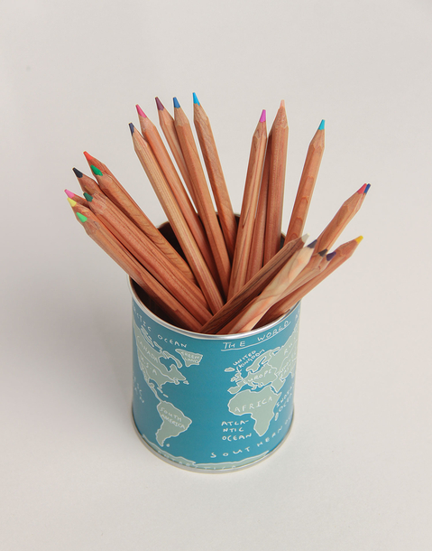 world map pencil holder