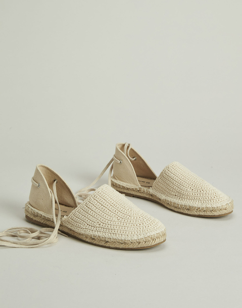 cotton tied espadrille