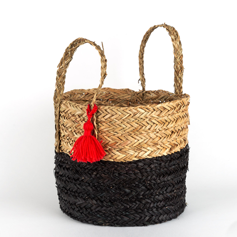 LARGE POMPOM BASKET